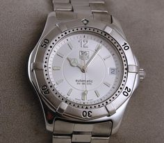 Mens Tag Heuer 2000 Automatic Watch Stainless Steel Silver Dial WK2116 1 | eBay