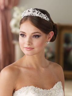 b4383fa26cf44 Bridal Millinery - Mon Cheri > Headpieces > 9705 Open crystal band Bridal  Veils And Headpieces