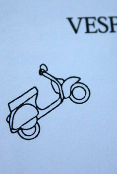 Never thought of it before, but... vespa tattoo! Oh, I'm brilliant...