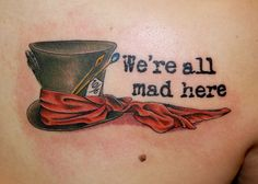 Quote in Alice in Wonderland tattoo