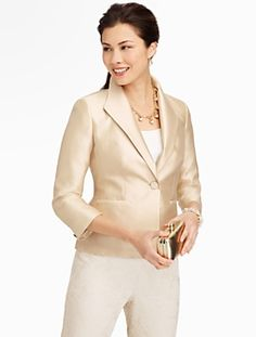 Talbots - Doupioni Jacket   Events and Occasions   Petites