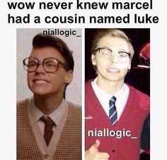 If Harry is actually Marcel, then can Luke be called Lou? 5sos Funny, 5sos Memes, 5sos Sad, One Direction Memes, I Love One Direction, Boys Who, My Boys, Style Zayn Malik, Bae