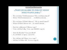 NÉMET ONLINE NYELVTAN - KEZDŐ: Kérdések-válaszok