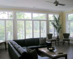 Contact Shenandoah Shutters for all your plantation shutter needs. We can manufacture and install plantation shutters for any windows and doors in your home