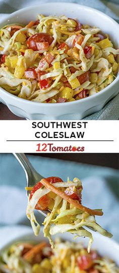 Southwestern Coleslaw 2 points of you use fat free ranch and cheddat Cooking Recipes, Healthy Recipes, Veggie Recipes, Diet Recipes, Coleslaw Mix, Pasta, Main Dishes, Side Dishes, Summer Salads