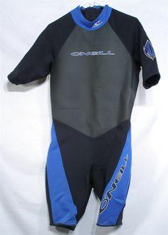 O'NEILL SURFING SCUBA SNORKEL DIVING DIVE BLUE SHORT LEG WET SUIT MEN'S LARGE L