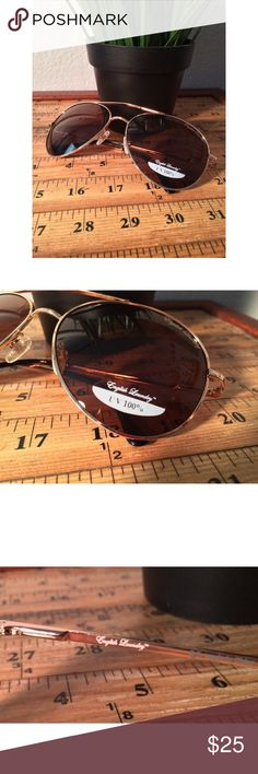 7cbca1df6d42 NEW English Laundry Aviator Sunglasses NEW WITHOUT CASE. Gold color and  never worn.