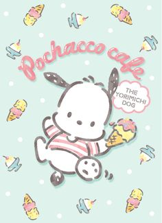 "pastel blue ""Dream of Colorful Milky Cones"", as courtesy of Sanrio Hello Kitty Characters, Sanrio Characters, Cute Characters, Japanese Characters, Sanrio Wallpaper, Kawaii Wallpaper, Iphone Wallpaper, Hello Kitty Art, Hello Kitty My Melody"