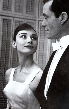 Is THIS what AnnE Hathaway (UGH) was aiming for? *Audrey Hepburn and Mel Ferrer at Academy Awards in 1956.*