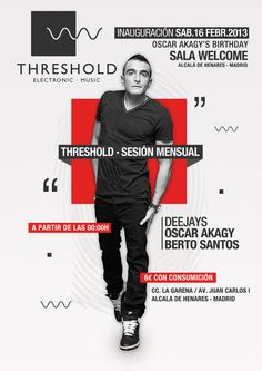 THRESHOLD. POSTER  Music Club  Party | Djs  House | Electro | Dance | Comercial