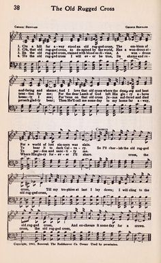 Printable Hymn Book Page - The Old Rugged Cross - Knick of Time
