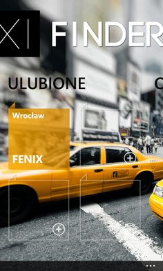 Taxi Finder - app for Windows Phone. Coming soon: www.taxifinder.eu