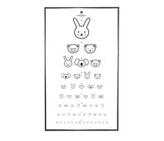 Eye Chart by Floor 4 Projects Ha ha ha! this is a silly eye chart! Deco Kids, Eye Chart, Deco Addict, Dramatic Play, Cool House Designs, Kidsroom, Design Inspiration, Charts, Graphic Design
