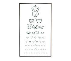 Animal Eye Chart. Adorable for a kid's room.