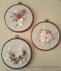 20130507_091441 Embroidery Thread, Ribbon Embroidery Tutorial, Silk Ribbon Embroidery, Embroidery Designs, Cross Stitch Embroidery, Ribbon Work, Diy Ribbon, Ribbon Crafts, Textiles