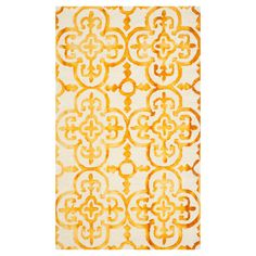 Safavieh Handmade Dip Dye Glinda Watercolor Vintage Boho Wool Rug (Ivory/Gold x Watercolor Rug, Dye Flowers, Floral Area Rugs, Contemporary Area Rugs, Hand Tufted Rugs, Tile Patterns, Muted Colors, Throw Rugs, Woven Rug