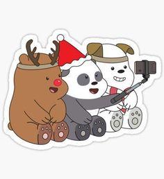 'We Bare Bears Love' Sticker by plushism – Ocean Trash We Bare Bears Wallpapers, Panda Wallpapers, Cute Cartoon Wallpapers, Bubble Stickers, Love Stickers, Bear Wallpaper, Wallpaper Iphone Cute, Kawaii Drawings, Easy Drawings