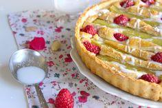 Tarte aux amandes, Rhubarbe et Framboises | Le blog de Lady Pastelle