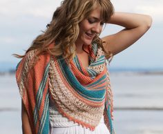Knitting pattern for Beachcomber Shawl