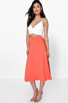 $20 boohoo Arianna Plain Full Circle Midi Skirt #afflink