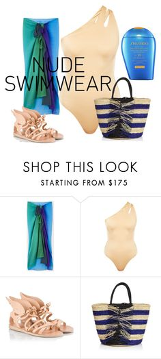 """""""Untitled #7283"""" by pampire ❤ liked on Polyvore featuring Paul Smith, Melissa Odabash, Ancient Greek Sandals, Sensi Studio and Shiseido"""