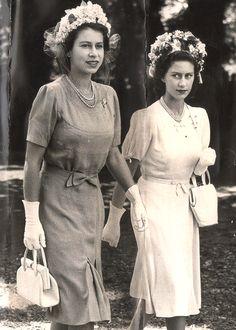 """gabriellademonaco: """" Princess Elizabeth & Princess Margaret """""""