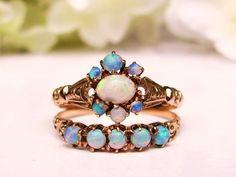 Antique Opal Bridal Set Opal Antique by LadyRoseVintageJewel