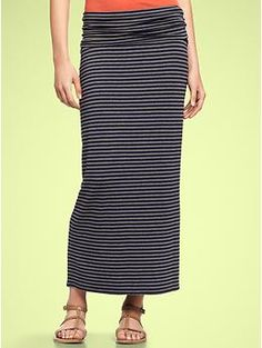 Striped foldover maxi skirt | Gap
