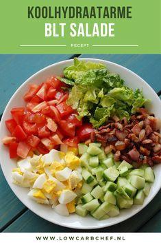 Dit is een gezonde salade die je makkelijk en snel kunt klaarmaken. Je kunt de bacon, ei, avocado en tomaat salade serveren als lunch of als hoofdgerecht bij het avondeten. Healthy Food Recipes, Avocado Recipes, Healthy Meal Prep, Salad Recipes, Guacamole, Light Summer Meals, Sauce Pizza, Avocado Health Benefits, Clean Eating
