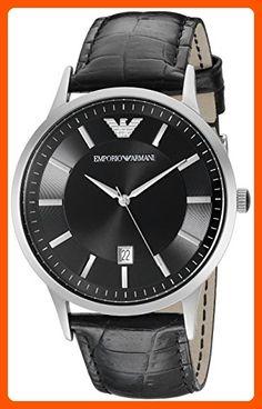 4be2609c33e9 Emporio Armani Men s AR2411 Dress Black Leather Watch - Mens world ( Amazon  Partner-