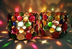 Stained Glass Votive Candle Holders by Eastvillageartisans on Etsy, $40.00