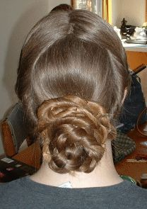 1860's hairstyle for long hair. tutorial