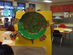 reptile unit. Turtle shells out of paper plates