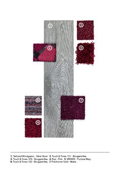 Accents of pinks and reds matched with Level Set Textured Woodgrains. Available Globally. Luxury Vinyl Tile, Carpet Tiles, Design Projects, Design Inspiration, Meet, Flooring, Make It Yourself, Texture, Interior Design