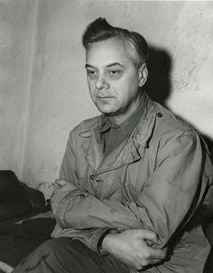 Alfred Rosenberg in captivity during the Nuremberg Trials, Nürnberg, Germany, 24 Nov 1945 -----Before-----