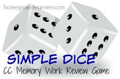 Simple Dice: Classical Conversations Memory Work ReviewGame - Home - Homegrown Learners