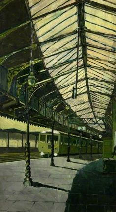 Gloucester Central station, by Anthony Robert Bateman, 1961.