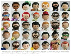 Adorable! Friends and Neighbors Poster Print features great little dolls the artist has created over the past year.