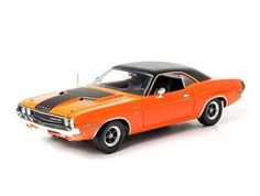 This Dodge Challenger RT (1970) Diecast Model Car from The Fast and The Furious 2 Fast 2 Furious is Orange and features working suspension, wheels and also opening bonnet with engine, boot, doors. It is made by Green Light Collectibles and is 1:18 scale (approx. 24cm / 9.4in long).  ...