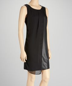 Take a look at this Black Sleeveless Dress by Sunny Leigh on #zulily today!