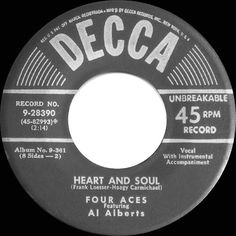 1952 HITS ARCHIVE: Heart And Soul - Four Aces (their original version)