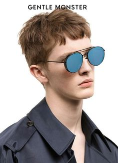 ce95314dc47 Gentle Monster 2016 BIG BULLY 01(6M) Unisex Sunglasses. black frame blue
