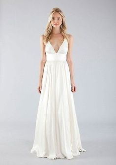 Nicole-Miller-Elizabeth-Crisscrossed-Silk-A-line-Wedding-Gown-6-Long-dress  on ebay in size 6 (correct for me!) $575 FRONT RUNNER