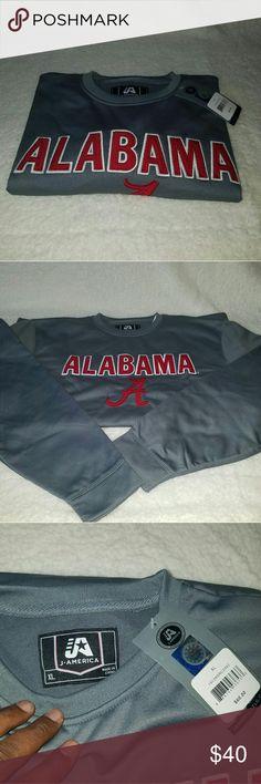 Alabama Crimson Tide Dark Grey Sweater ROLL TIDE   ALABAMA CRIMSON TIDE  FOOTBALL SWEATER   Size XL  DARK GREY WITH THE CRIMSON LOGO Sweaters
