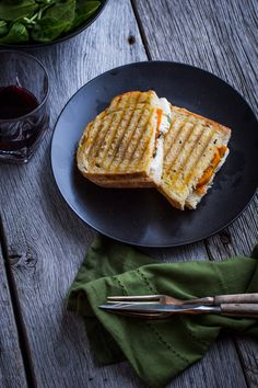Roasted butternut squash, fresh mozzarella and sage make a flavorful filling for this easy vegetarian panini.