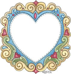 FR Heart Borders For Paper, Borders And Frames, Butterfly Template, Quilt Labels, Wood Burning Patterns, Frame Clipart, Diy Stickers, Tole Painting, Digi Stamps