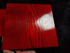 I Mix Red Dyes To Apply On Oak And Maple To Make A Gorgeous Red Wood Stain. I used Keda Liquid Dyes to make this high end red wood stain. Red Wood Stain, Into The Woods, Palette, Woodworking Bed, Aging Wood, Wood Bedroom, Red Paint, How To Distress Wood, Wood Shelves