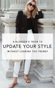 This fashion blogger shares two infallible tricks to slightly update your style while avoiding getting caught in a 'chasing trend' cycle. Spring outfit, summer outfit, simple outfit, black and white outfit, easy outfit, fashion 2018, fashion trends 2018, street style, casual outfit, work outfit #fashion2018 #streetstyle #springstyle #summerstyle #casualstyle #blazer #hermes #stylish #fashiontrends2018