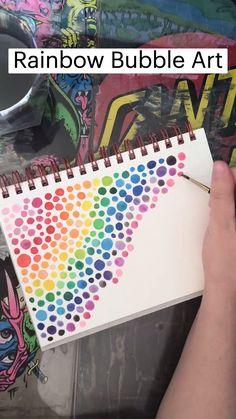 Do It Yourself Inspiration, Bubble Art, Guache, Wow Art, Art Drawings Sketches Simple, Diy Canvas Art, Diy Painting, Doodle Art, Art Tutorials