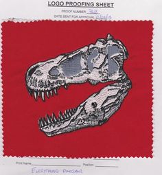 Everything Dinosaur clothing range coming soon, something to get your teeth into.